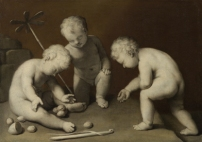 ©Bambini che giocano, XVII secoloPitturaa grisaille, tela,H 70 cm, L 98 cmVienna, Kunsthistorisches Museum, Gemäldegaleriie