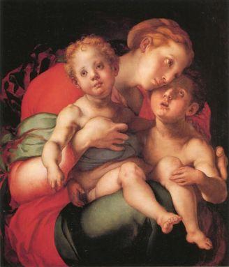 Jacopo Pontormo Madonna col Bambino e san Giovannino tavola, cm 89 x 73 Firenze, Gallerie degli Uffizi, Galleria delle statue e delle pitture, inv.1890, n. 4347