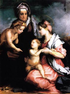 Andrea del Sarto Sacra Famiglia Medici tavola, cm 140 x 104 Firenze, Gallerie degli Uffizi, Galleria Palatina, inv.1912, n. 81