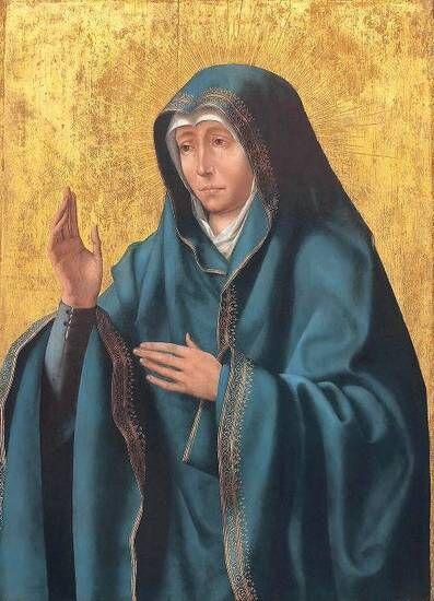 Quentin Metsys Madre dei Dolori, pittura a olio e oro su tavola, Museo Nazionale San Matteo di Pisa