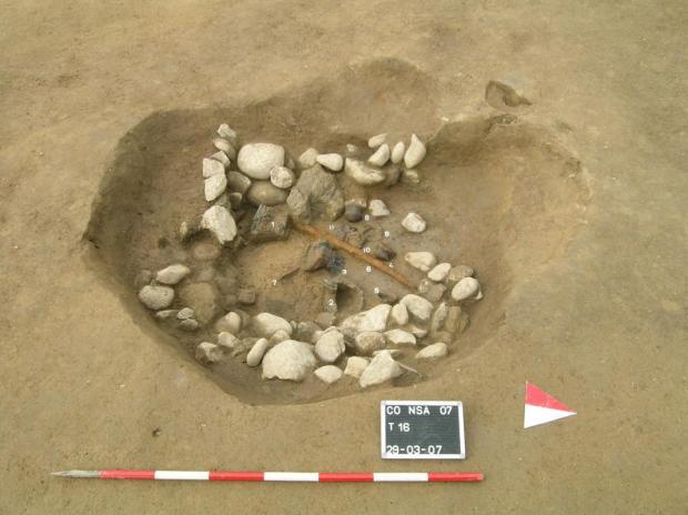 7_Tomba 16 del Nuovo Ospedale sant_Anna di Como_in corso di scavo