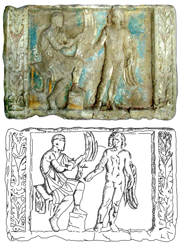 04. Dedalos e Icaro-Gerulata, stele funerale