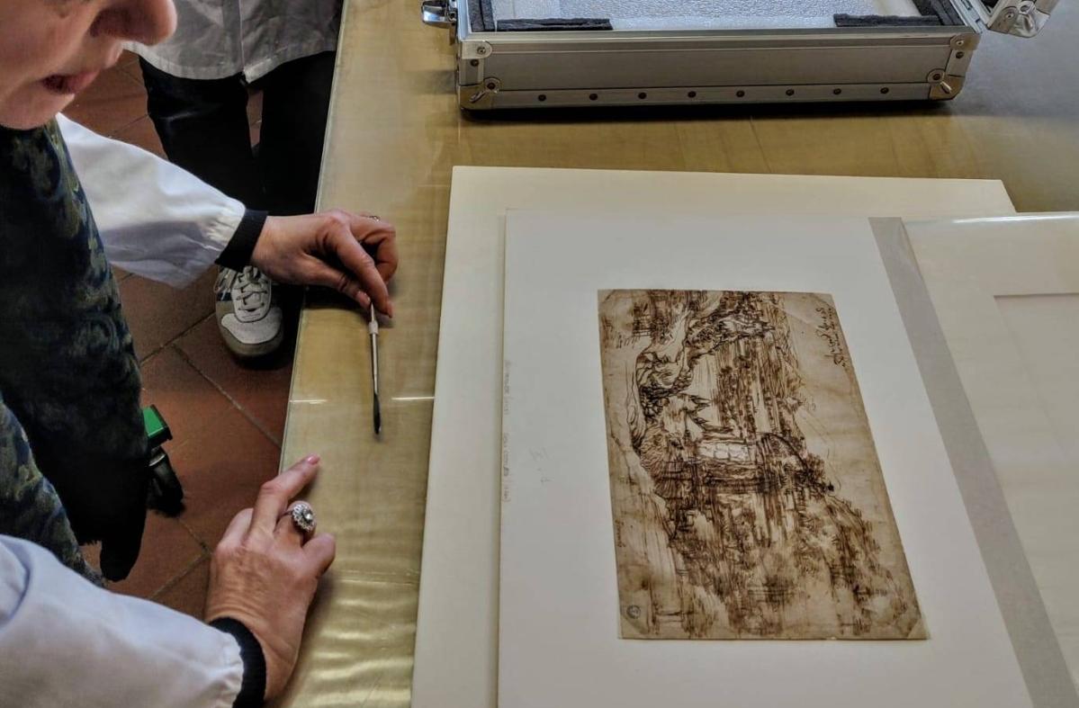 """Il """"Paesaggio"""" di Leonardo rivela i dubbi e i ripensamenti del grande artista"""