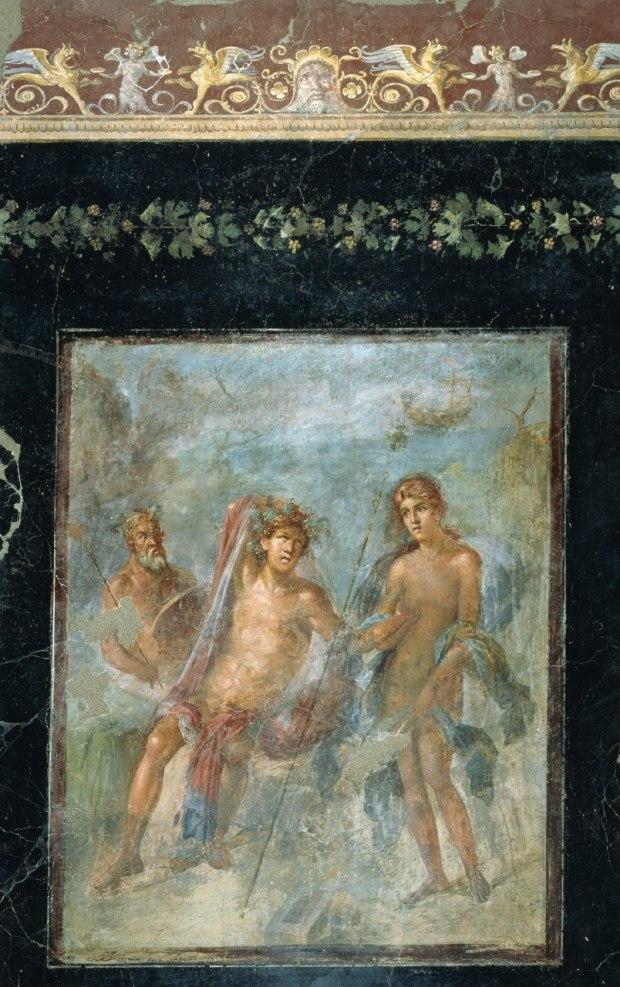 Dioniso e Arianna a Nasso Pompei - Casa del Bracciale d'oro affresco - cm216x129Pompei - ParcoArcheologico