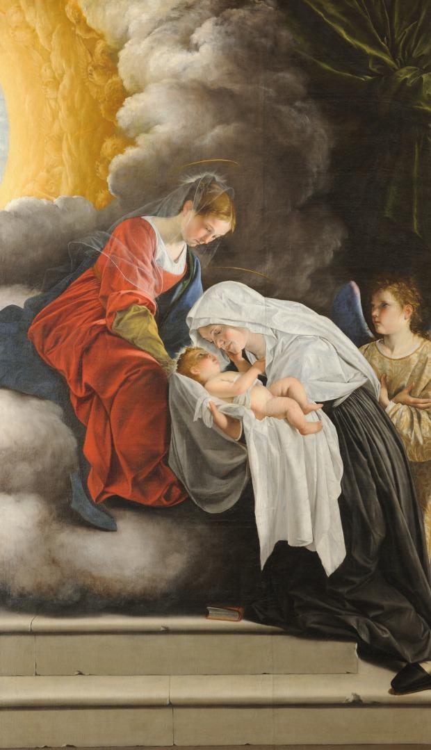 04_Orazio Gentileschi_Madonna con Bambino e Santa Francesca Romana_Galleria Nazionale delle Marche, Urbino