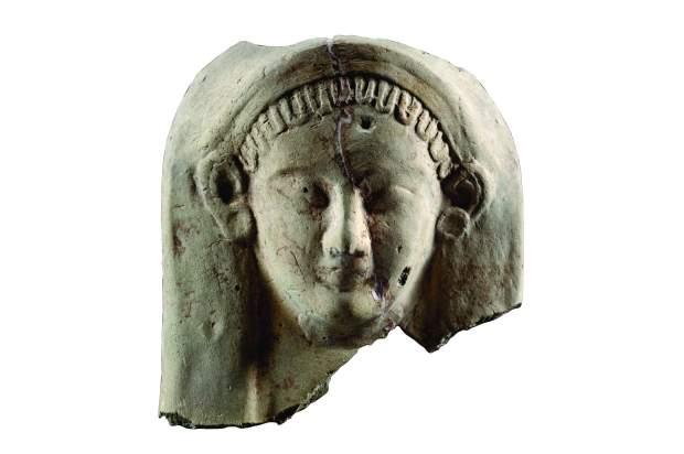 Maschera votiva a protome femminile