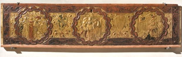 9_Fronte di cassone nuziale raffigurante le storie di Alatiel, inv. 985