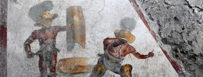 affresco gladiatori Pompei
