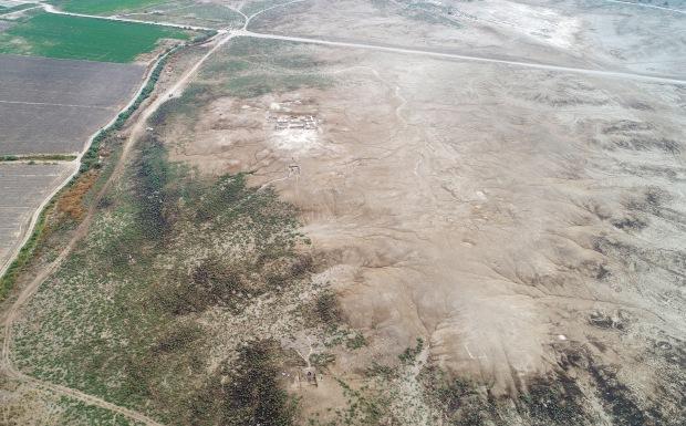 Immagine da drone del sito di Tell as-Sadoum
