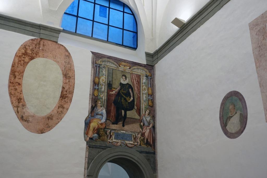 affreschi sepolture scoperte uffizi